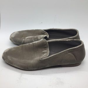 Vince Lela Velvet Loafers taupe size 7